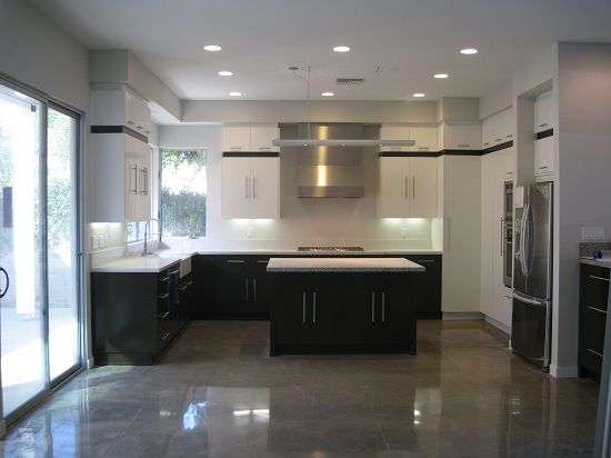 Nice Lovely Kitchen Concrete Floor Hd Image Good Looking Photo